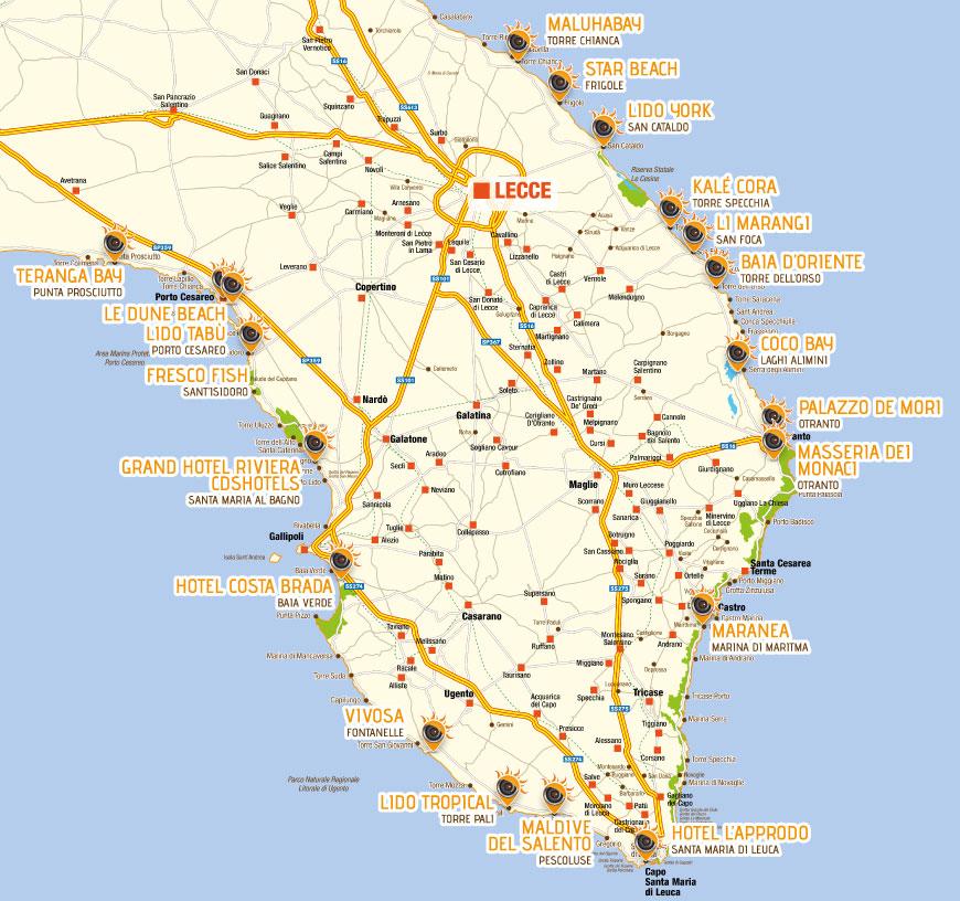 Puglia Cartina Mare.Occhio Alle Spiagge Webcam Del Mare Del Salento Su 365giorninelsalento It